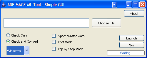 Simple GUI screenshot